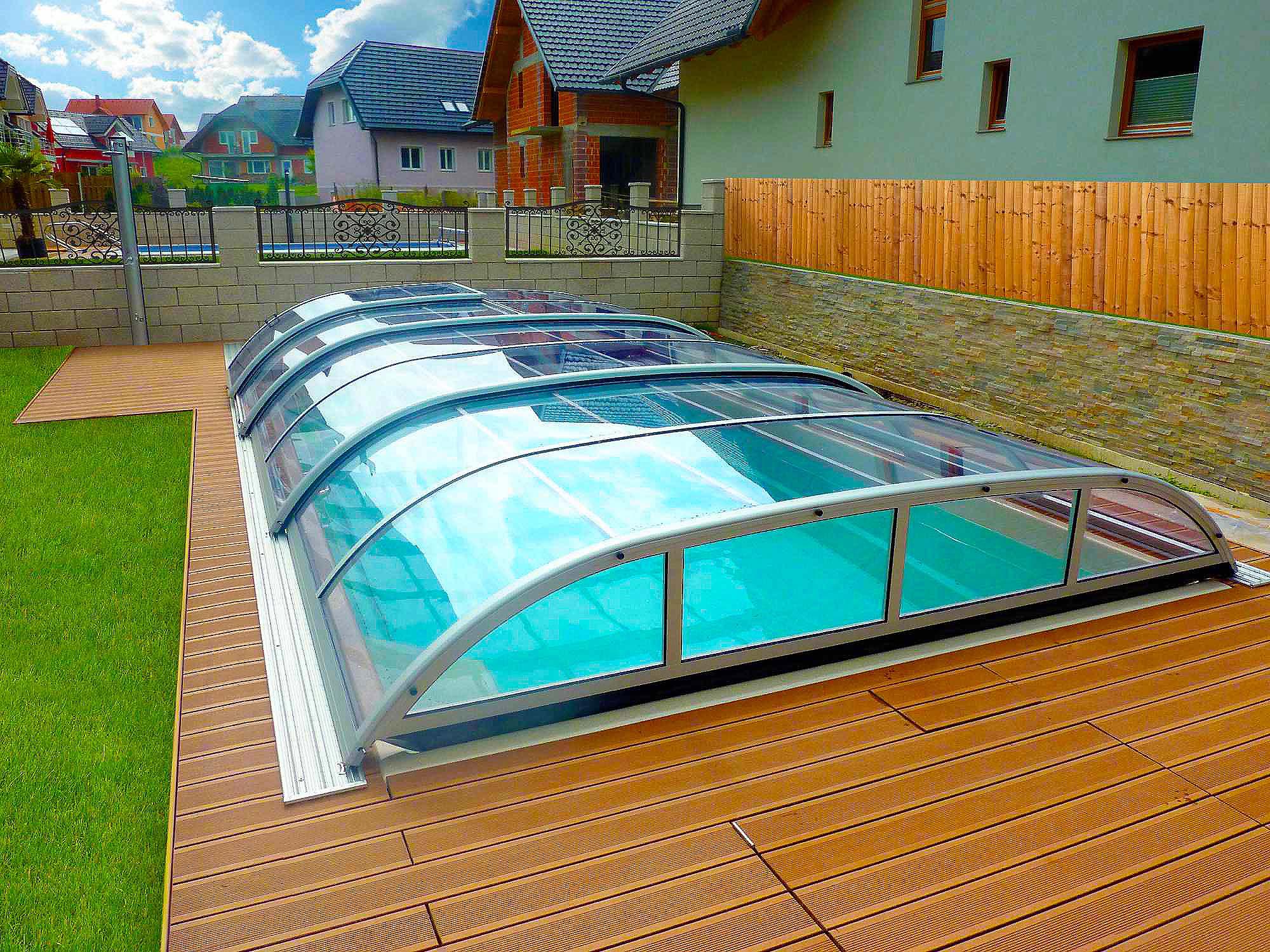 Galer a cubiertas para piscinas piscina plus for Piscina cubierta tomares
