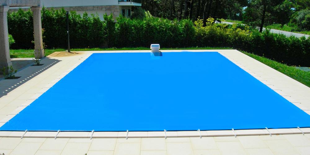 venta de cobertores para piscina de lona y tejido
