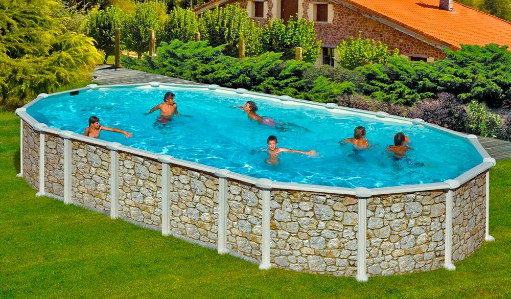 Instalaci n y venta de piscinas elevadas gre piscina plus for Piscinas de plastico para jardin